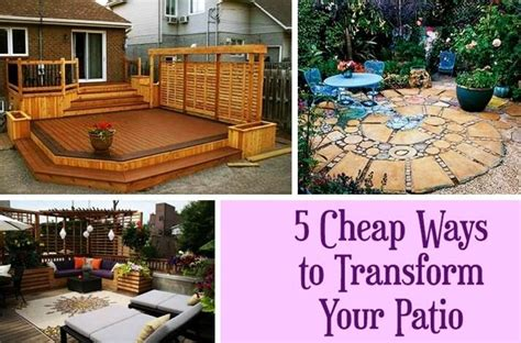 5 budget friendly ideas to spruce up your patio
