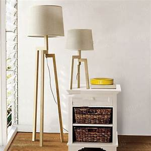 Nordic IKEA fabric floor lamp modern minimalist living ...