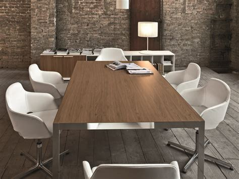 rectangular meeting table frame meeting by sinetica