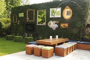 Garden wall decoration ideas patio shabby-chic style with