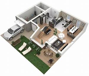 Plans 3d dappartements studios maisons plus immo for Maison sweet home 3d 12 plan maison 3d sur terrain