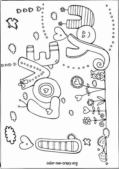 Valentine Coloring Pages Crazy Valentines Hearts Bears