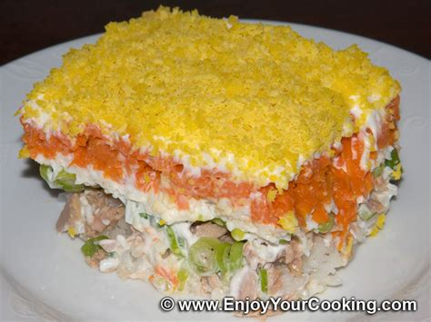 mimosa cuisine mimosa layered fish salad recipe my food
