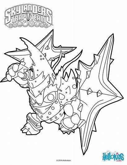 Skylanders Coloring Pages Trap Team Star Lob