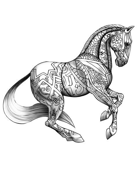 Download | Selah Works - Artwork and Adult Coloring Books | Horse coloring pages, Printable