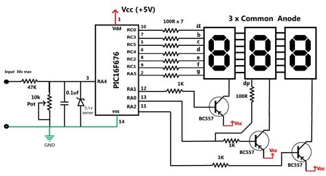 Embedded Engineering Volts Panel Volt Meter Using Pic Mcu