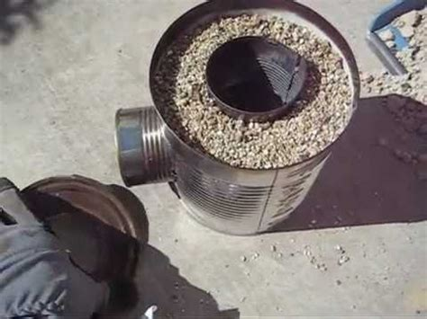 build  camping rocket stove  leftover food cans