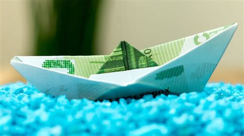 fold  money origami ship easy cash boat folding