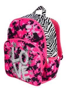 Girls Justice Backpacks Zebra
