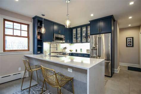 blue kitchens  kitchen designs  popsugar home
