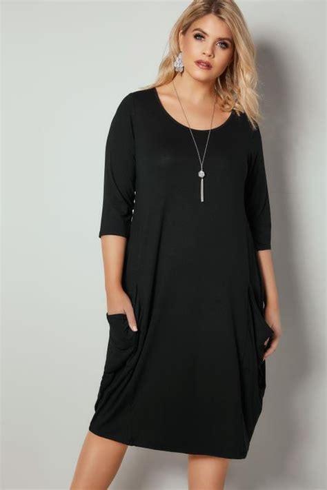 dress dresses swing plus jersey pockets pocket ladies sleeves basket clothing zoom drape