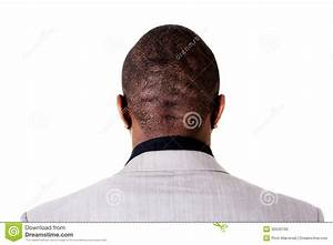 Black male head, back. stock photo. Image of muscles ...