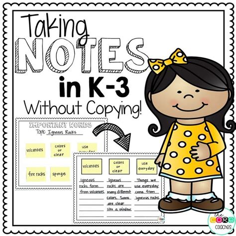taking notes without copying a k 3 note taking strategy