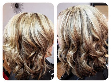 Blonde Hair With Mocha Lowlights Shoulder Length Bob Light
