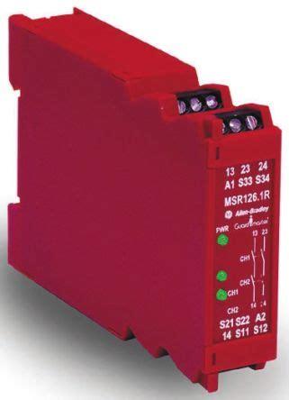 440r n23119 minotaur msr126 1r safety relay dual channel 115 v ac 2 safety allen bradley