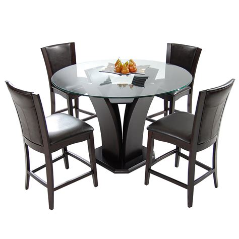brown 5 high dining set el dorado furniture