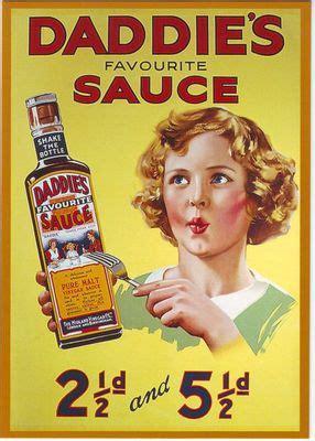 daddies sauce advertising poster   print