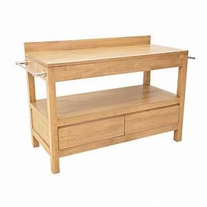 meuble salle de bain bois 2 tiroirs 120 cm calveth 5461 With meuble salle de bain ecologique