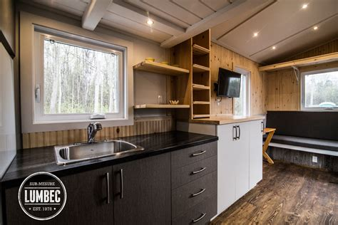 micro cuisine tiny house lumbec le projet 2015