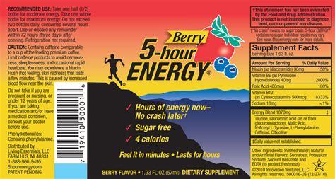 hour energy berry  fl oz  pack living essentials