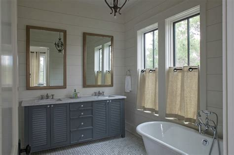 Shiplap Pine Wall Paneling by Serene Bathroom With Shiplap Paneled Walls Framing