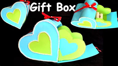 diy    heart gift box paper craftcardboard
