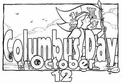 Columbus Coloring Pages October Printable Christopher Ships