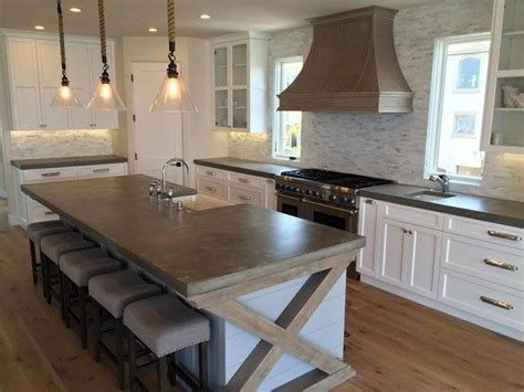 kitchen island with cutting board top best 25 concrete countertops ideas on cement