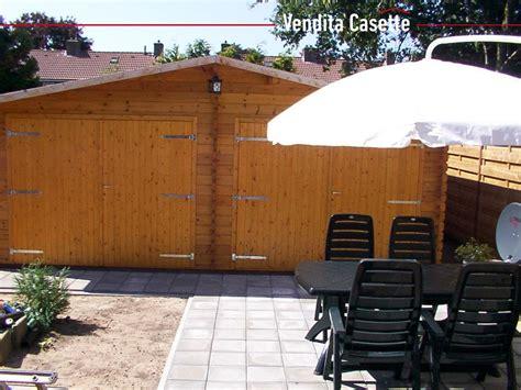 garage box auto garage in legno doppio 6x6