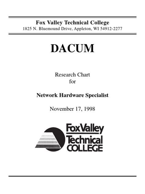network hardware specialist dacum chart nov