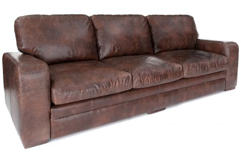 Urbanite  Vintage Leather Extra Large Sofa From Old Boot