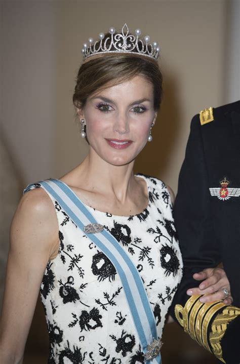 Fleur Lis Tiara Queen Letizia Spain Jewelry