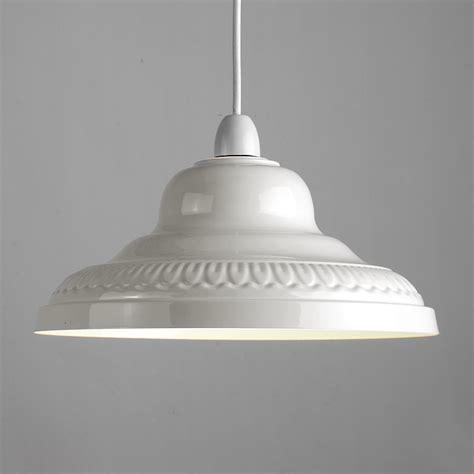 vintage retro cream metal ceiling pendant light l shade