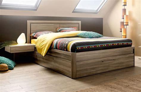 meuble gautier chambre lit coffre 3 tiroirs 140x190 collection talmont