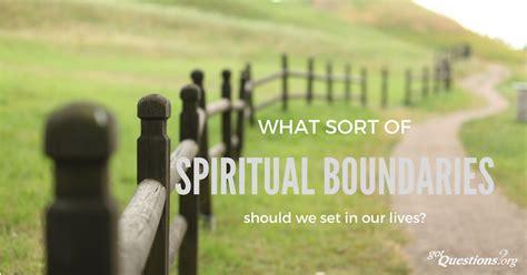 sort  spiritual boundaries   set