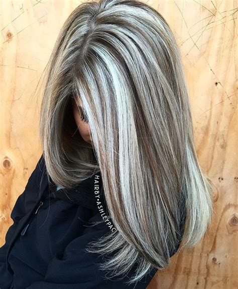 gray hair highlights ideas  pinterest gray