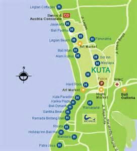 Kuta Bali Map