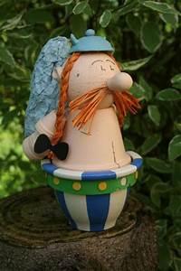 Creation Avec Des Pots De Fleurs : cr ation ob lix en bonhomme en pot cr ation personnage ~ Melissatoandfro.com Idées de Décoration