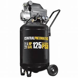 21 Gal  2 5 Hp 125 Psi Cast Iron Vertical Air Compressor