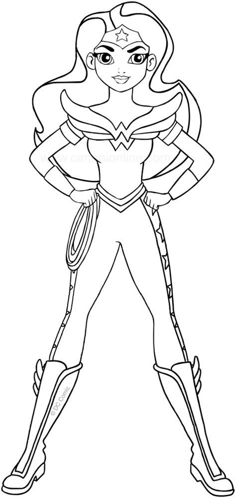woman dc superhero girls coloring page