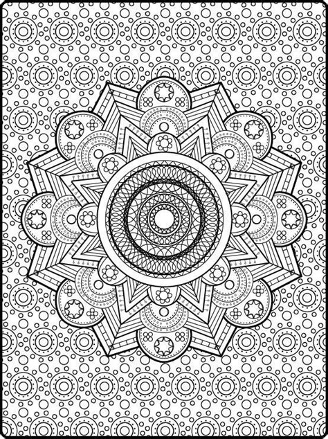 zen coloring mandala printable adult coloring book pages