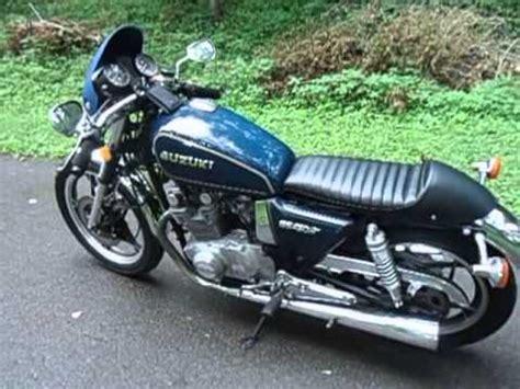 1981 suzuki gs450 cafe racer transformation