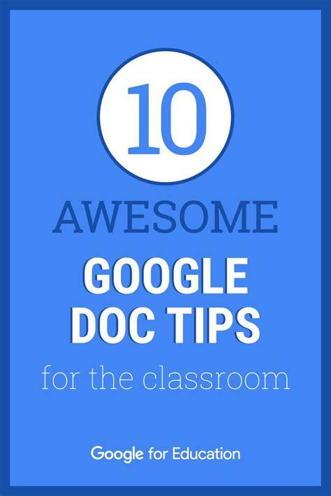 10 Google Docs Tips & Tricks   Google education, Teachers ...