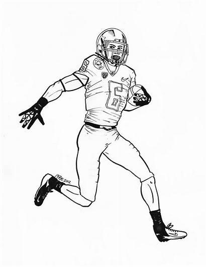 Coloring Pages Oregon Ducks Denver Broncos Football