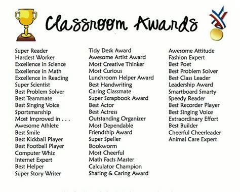 classroom awards make feel special end of school 749 | e73c59d208d4351dc85bd2f84f46e181 preschool graduation preschool yearbook ideas