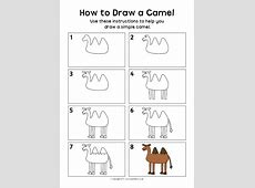 How to Draw a Camel Instructions Sheet SB12298 SparkleBox