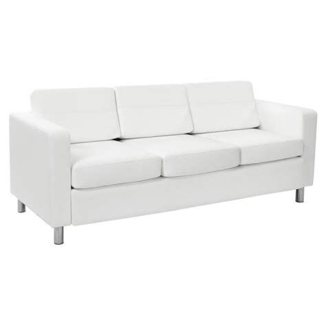 osp home furnishings pacific dillon snow vinyl sofa couch
