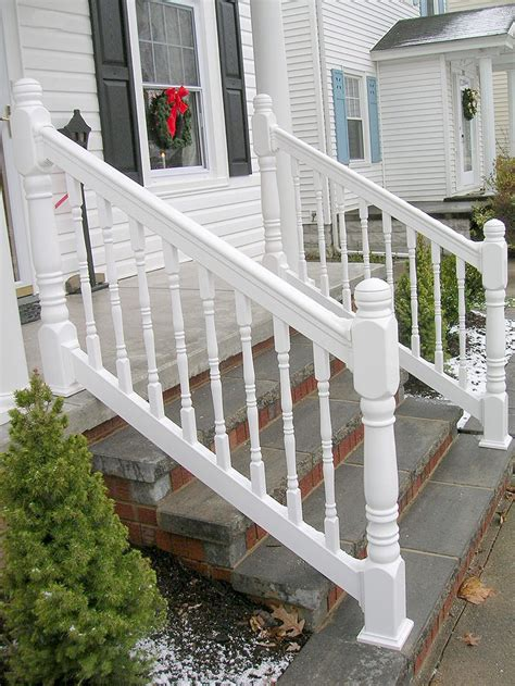 vinyl porch railing vinyl porch railing with turned spindles turned posts by