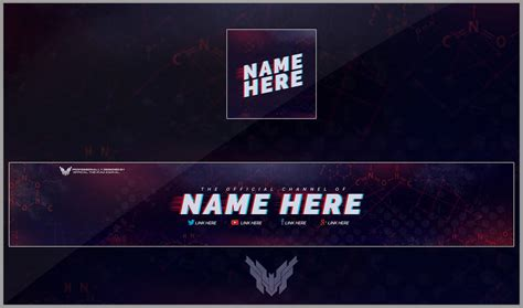 Banner for YouTube Channel Templates