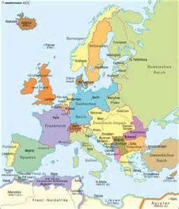 Mapa Europa 1914
